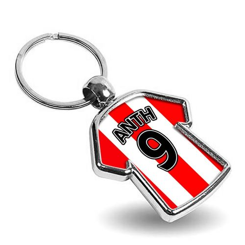 Personalised Any Picture / Any Text T-Shirt Metal Keyring (Double Sided)